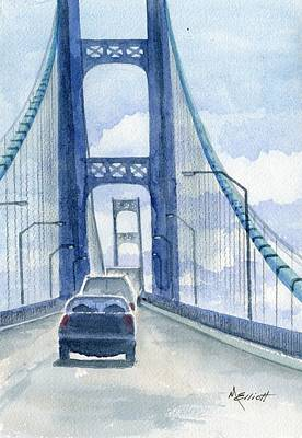 Mackinac Painting - Crossing The Mackinac by Marsha Elliott