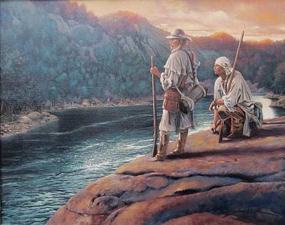 Cumberland River Painting - Crossing The Middleground by Richard Luce