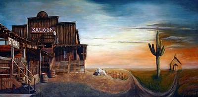 Rain Barrel Painting - Crossroad by Maxx Phoenixx