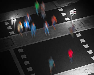 Asphalt Digital Art - Crosswalk by Pedro L Gili