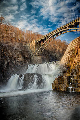 Croton Falls Bridge View Print by Emmanouil Klimis