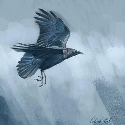 Digital Art - Crow by Aaron Blaise
