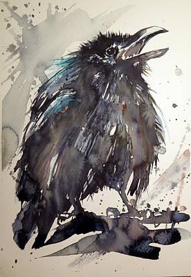 Crow Baby Print by Kovacs Anna Brigitta