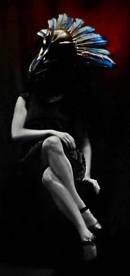 Goth Photograph - Crow Girl by Marianna Mills