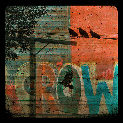 Crow Graffiti  Print by Gothicolors Donna