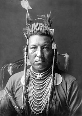 Necklace Photograph - Crow Indian Circa 1908 by Aged Pixel