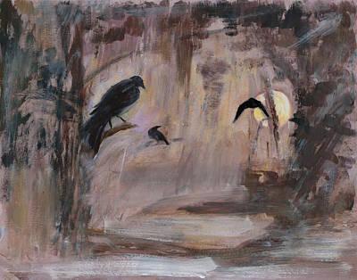 Crow Moon Print by Ethel Vrana