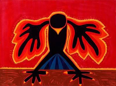Crow Rising Original Painting Print by Sol Luckman