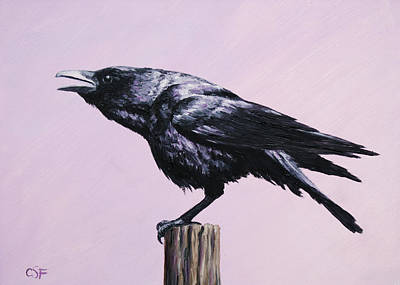 Crow - Sounding Off Original by Crista Forest