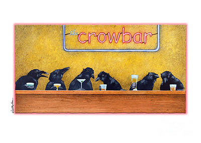 Crows Painting - Crowbar by Will Bullas