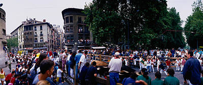 Fiesta Photograph - Crowd At Festival Of San Fermin by Panoramic Images