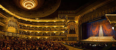 Stage Theater Photograph - Crowd At Mariinsky Theatre, St by Panoramic Images
