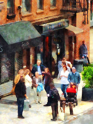 New York City Photograph - Crowded Sidewalk In New York by Susan Savad