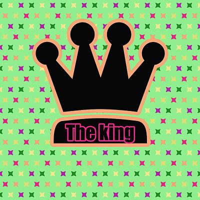 Crown In Pop Art Print by Toppart Sweden