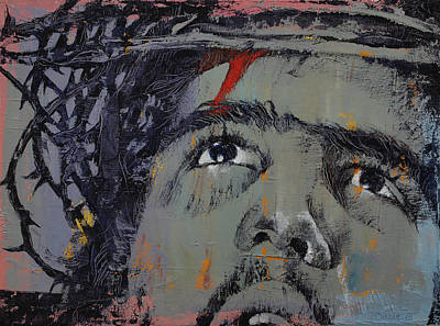Crucifix Painting - Crown Of Thorns by Michael Creese