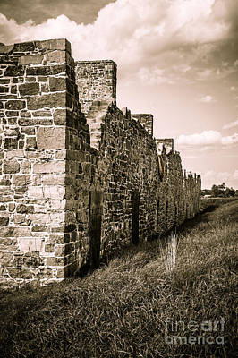 Barracks Photograph - Crown Point New York Old British Fort Ruin by Edward Fielding