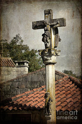 Bw Photograph - Cruceiro In Galicia by RicardMN Photography