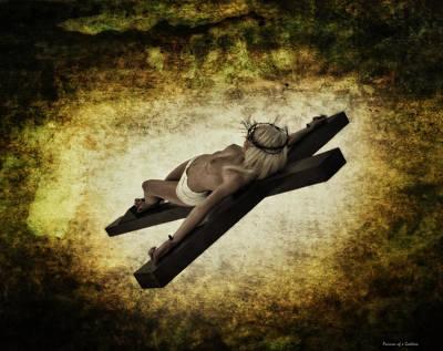 Landskape Photograph - Crucifix II by Ramon Martinez