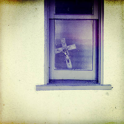 Crucifix In A Window Print by YoPedro