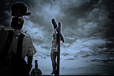 Crucifixion Scene I Print by Ramon Martinez