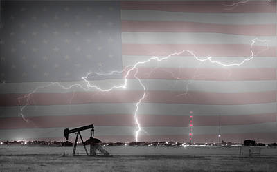 Welded Art Photograph - Crude Oil And Natural Gas Striking Across America Bwsc Hdr by James BO  Insogna