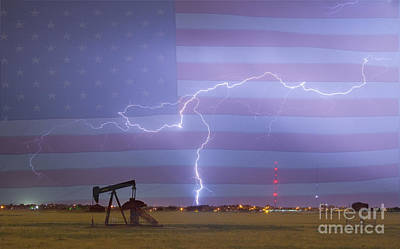 Crude Oil And Natural Gas Striking Across America Print by James BO  Insogna