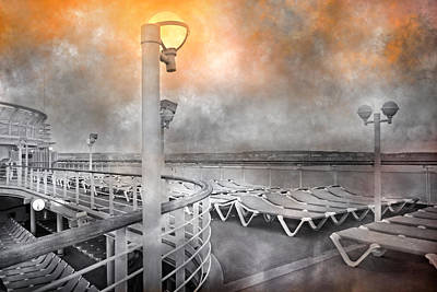 Cruise Boat Lamps Print by Betsy Knapp