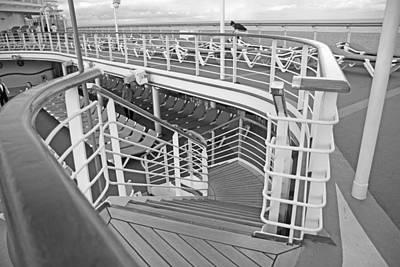 Cruise Ship Print by Betsy Knapp