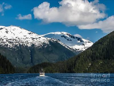 Cruising Alaska Print by Robert Bales