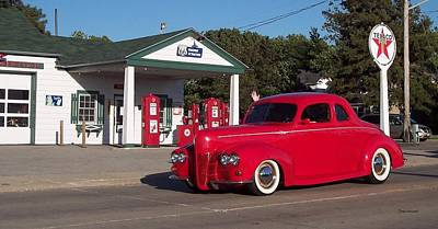 By Thomas Woolworth Photograph - Cruising Route 66 Dwight Il by Thomas Woolworth