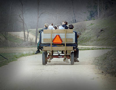 Amish Community Photograph - Cruising by Steven  Michael