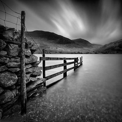 Old Stone Photograph - Crummock Water by Dave Bowman