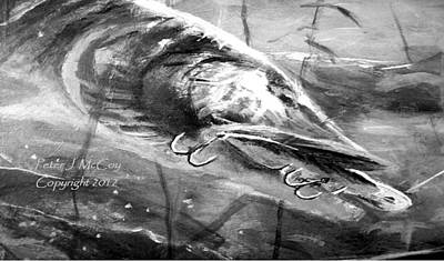 Musky Drawing - Crunch Time - Musky by Peter McCoy
