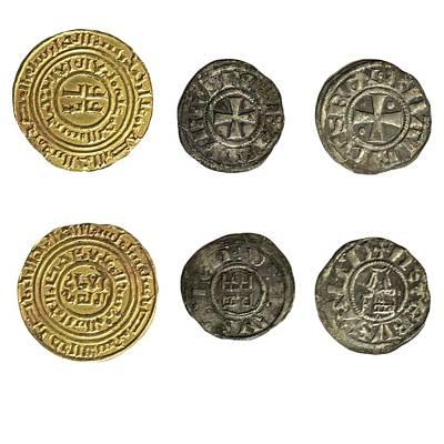 Crusader Kingdom Of Jerusalem Coins Print by Photostock-israel