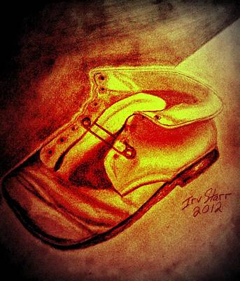 Crushed Baby Shoe Print by Irving Starr