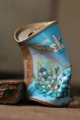 Pop Can Photograph - Crushed  by JC Photography and Art