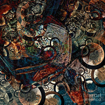 Crushed Spirals Print by Klara Acel