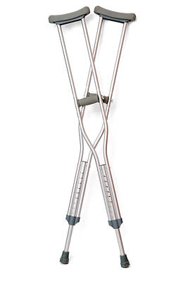 Crutch Photograph - Crutches by Daniel Sambraus