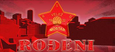 Bosnae Digital Art - Crveni Mostar by Toro Tan