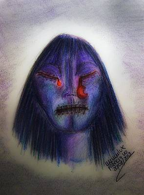 Crying Drawing - Cry Me A Moon by Mimulux patricia no