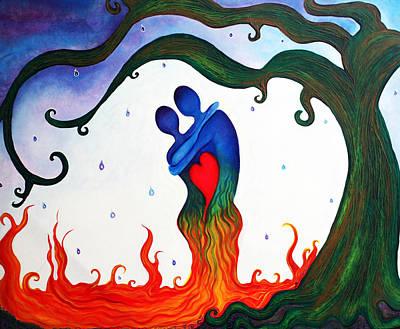 Cryin Tears Of Love Print by Laura Barbosa