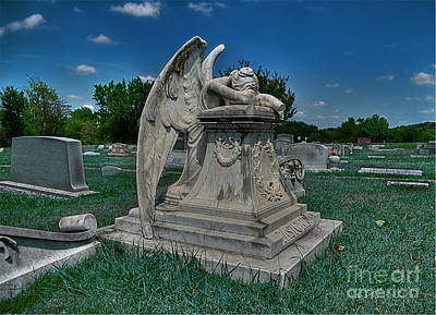 Grave Photograph - Crying Angel 2 by Hilton Barlow