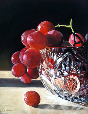 Crystal Grapes Print by Cristine Kossow