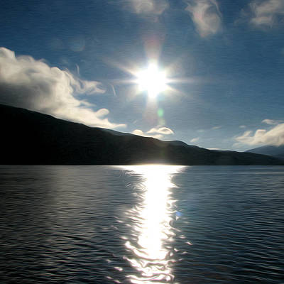 Barton Painting - Crystal Lake Sunrise by John Haldane
