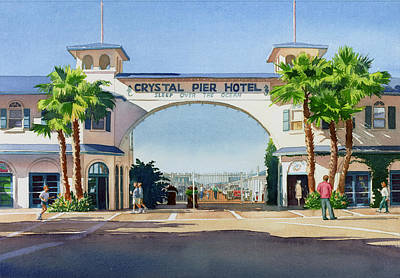 Crystal Pier Pacific Beach Print by Mary Helmreich