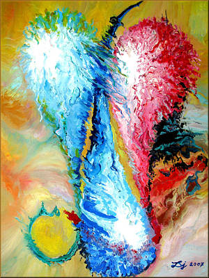 Shards Painting - Crystal Tears by Daniel Janda