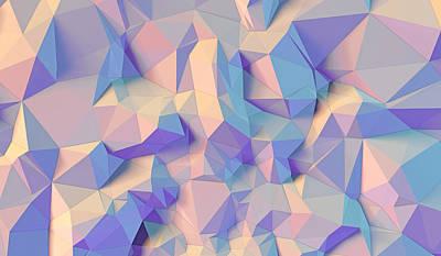 Abstract Forms Digital Art - Crystal Triangle by Vitaliy Gladkiy