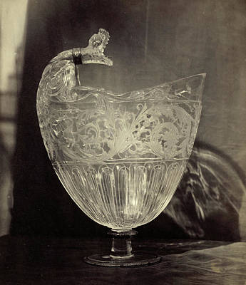 Louvre Drawing - Crystals Jug Engraved With Animal Head, From The Louvre by Artokoloro