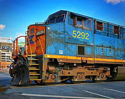 Train Photograph - Csx 5292 Locomotive In Baltimore by Bill Swartwout