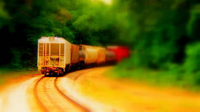 Long Street Digital Art - Long Train Running   by Rosemarie E Seppala